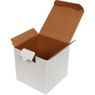 10,5x10,5x10,5cm Kilitli Kutu - Beyaz