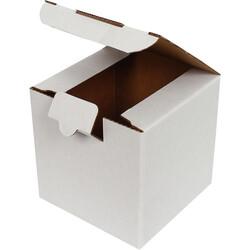 10,5x10,5x10,5cm Kilitli Kutu - Beyaz - Thumbnail