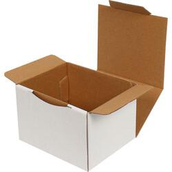 12,5x10,5x8cm Kilitli Kutu - Beyaz - Thumbnail