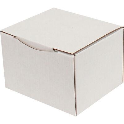 12,5x10,5x8cm Kilitli Kutu - Beyaz