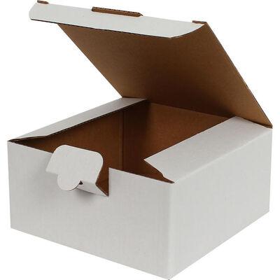 13,5x13,5x6,5cm Kilitli Kutu - Beyaz