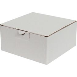 13,5x13,5x6,5cm Kilitli Kutu - Beyaz - Thumbnail