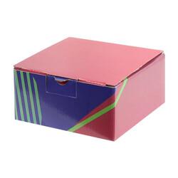 13,5x13,5x6,5cm Desenli Kutu -Bordo-Lacivert-Yeşil - Thumbnail