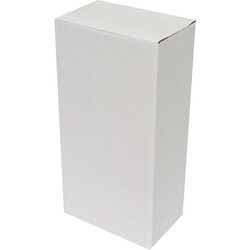 14x8x27cm Tek Oluklu Koli - Beyaz - Thumbnail