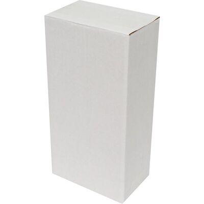 14x8x27cm Tek Oluklu Beyaz Koli