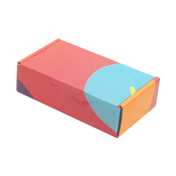 14x8x4cm Ofset Desenli Kutu -Bordo-Mavi - Thumbnail