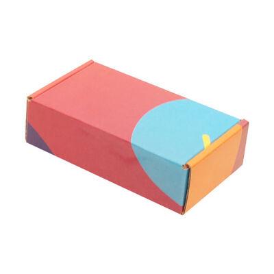 14x8x4cm Ofset Desenli Kutu -Bordo-Mavi