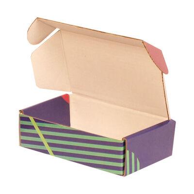 14x8x4cm Ofset Desenli Kutu -Lacivert Yeşil Bordo