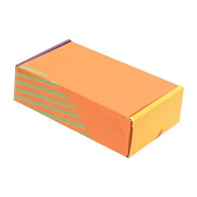 14x8x4cm Ofset Desenli Kutu -Sarı Turuncu