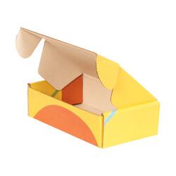 14x8x4cm Ofset Desenli Kutu -Sarı Turuncu Yeşil - Thumbnail