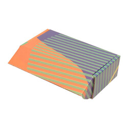 14x8x4cm Ofset Desenli Kutu -Yeşil Çizgili - Thumbnail