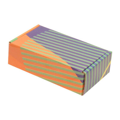 14x8x4cm Ofset Desenli Kutu -Yeşil Çizgili