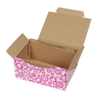 15,5x11x7,5cm Pembe Alışveriş Desenli Kutu