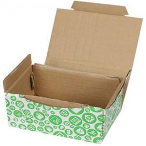 15,5x11x7,5cm Yeşil Alışveriş Desenli Kutu - Thumbnail