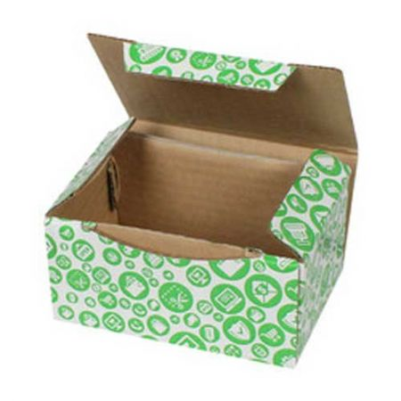 15,5x11x7,5cm Yeşil Alışveriş Desenli Kutu