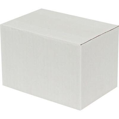 15x10x10cm Tek Oluklu Koli - Beyaz
