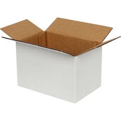 15x10x10cm Tek Oluklu Koli - Beyaz - Thumbnail