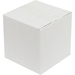 15x15x15cm Tek Oluklu Beyaz Koli - Thumbnail