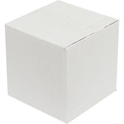 15x15x15cm Tek Oluklu Beyaz Koli