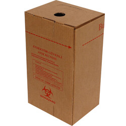 17x13x28,5cm Enjektör Güvenli Atık Kolisi - Kraft - Thumbnail
