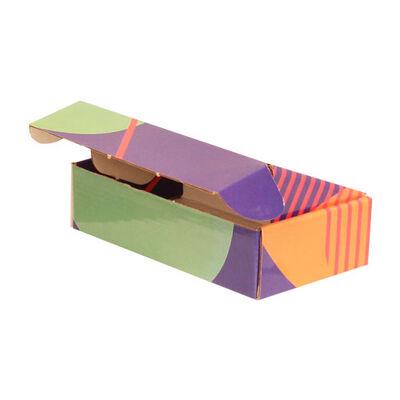 18x10x4,5cm Desenli Kutu - Yeşil-Lacivert-Yeşil