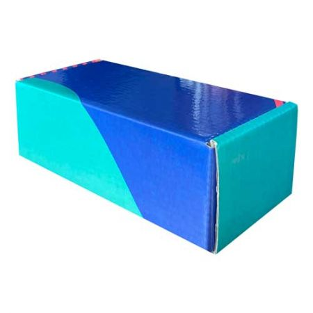 18x7,5x6cm Kilitli Kutu - Yeşil Lacivert Pembe