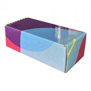 18x7,5x6cm Kilitli Kutu -Mavi Lacivert Pembe - Thumbnail