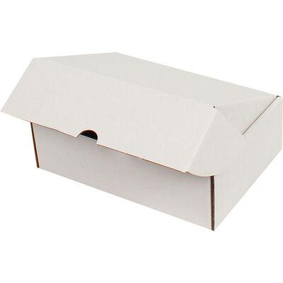 19x13x6cm Kilitli Kutu - Beyaz