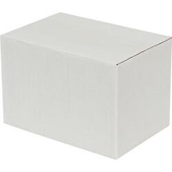 20x10x10cm Tek Oluklu Koli - Beyaz - Thumbnail