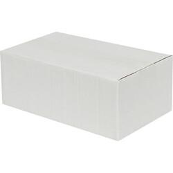 20x15x10cm Tek Oluklu Koli - Beyaz - Thumbnail