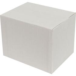 20x15x15cm Tek Oluklu Koli - Beyaz - Thumbnail