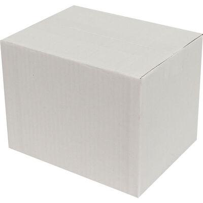 20x15x15cm Tek Oluklu Koli - Beyaz