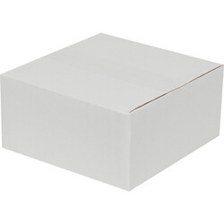 20x20x10cm Tek Oluklu Koli - Beyaz - Thumbnail