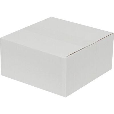20x20x10cm Tek Oluklu Koli - Beyaz