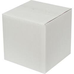 20x20x20cm Çift Oluklu Beyaz Koli - Thumbnail
