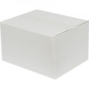 21x12x14cm Tek Oluklu Koli - Beyaz - Thumbnail