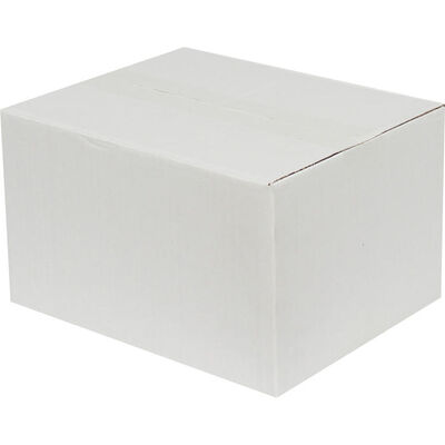 21x12x14cm Tek Oluklu Koli - Beyaz