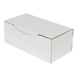 22,5x12x8cm Kilitli Kutu - Beyaz - Thumbnail