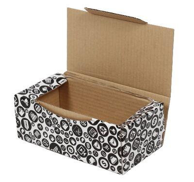 22,5x12x8cm Siyah Desenli Kutu