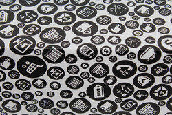 22,5x12x8cm Siyah Desenli Kutu - Thumbnail