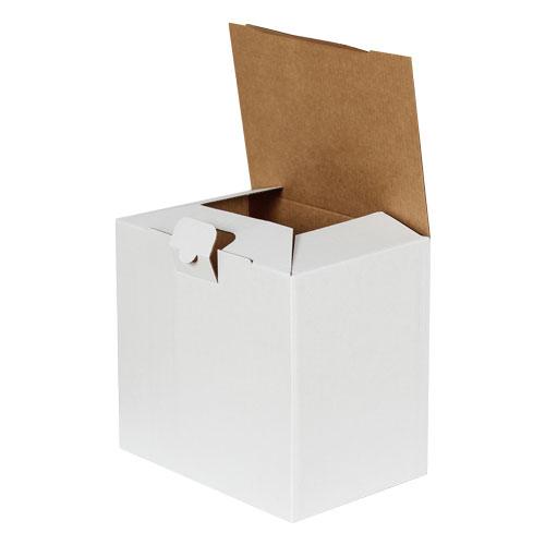 22x15x20cm Kilitli Kutu - Beyaz