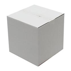 23x23x23cm Tek Oluklu Koli - Beyaz - Thumbnail