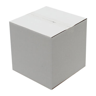 23x23x23cm Tek Oluklu Koli - Beyaz