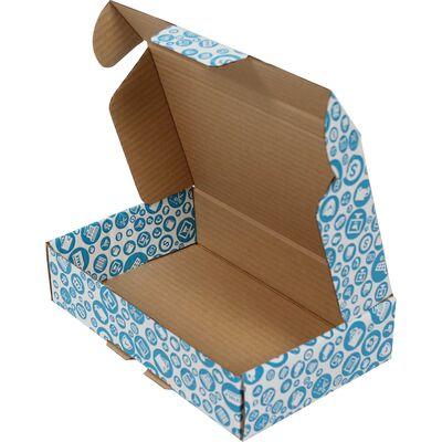 24x16,5x6cm Mavi Desenli Kutu