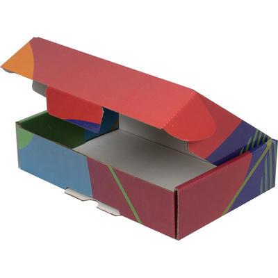 24x16,5x6cm Renkli Desenli Kutu [Mavi-Yeşil]
