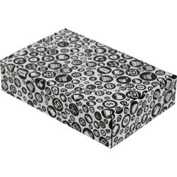 24x16,5x6cm Siyah Desenli Kutu - Thumbnail