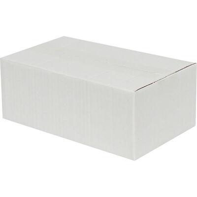 25x15x10cm Tek Oluklu Koli - Beyaz