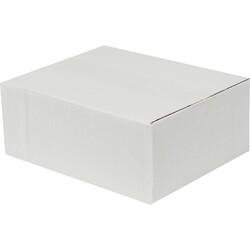 25x20x10cm Tek Oluklu Koli - Beyaz - Thumbnail