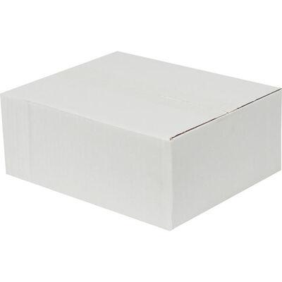 25x20x10cm Tek Oluklu Koli - Beyaz
