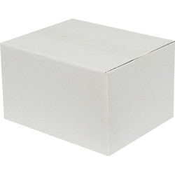 25x20x15cm Tek Oluklu Beyaz Koli - Thumbnail